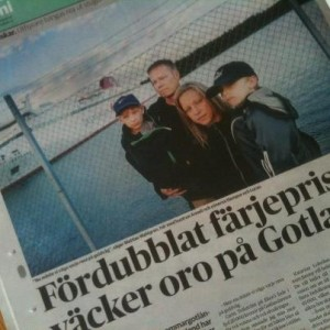 Faximil på artikel i DN 30 juni
