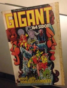 Bild på omslaget av Gigant nummer 8 1985.