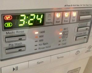 Bild på ett tvättmanskinsprogrem