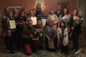Representanter från de nio nätverk som fick årets integrationspris på Gotland 2016.