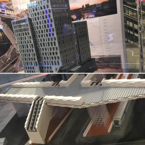 På Centralstationen finns en arkitektmodell av ombyggnationen som gjorts tvärs över gatan. De nya nedgångarna till Centralen och hotellet som byggts ovanpå. Modellen är gjord av den inte helt oävne i sammanhanget BremlerBrick.