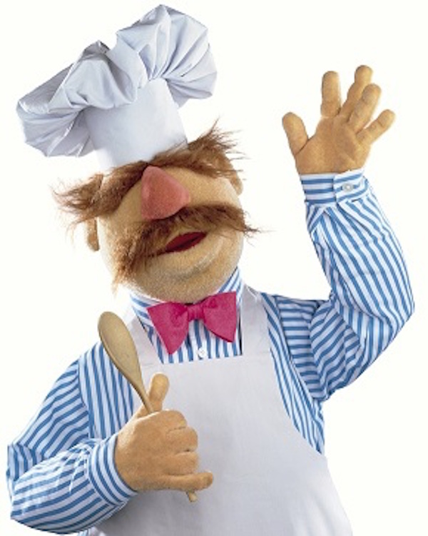 Jag kanske inte är lika kass i köket, men... Den svenske kocken från Mupparna, som han beskrivs på Wikipedia.