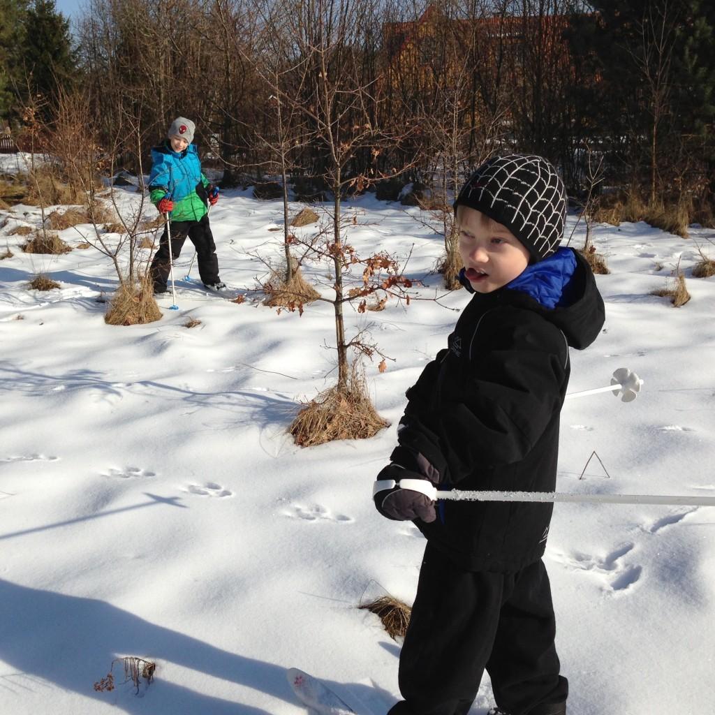 Västergarn 2013. Det var den senaste gången vi firade sportlov med snö. Som turister på Gotland.